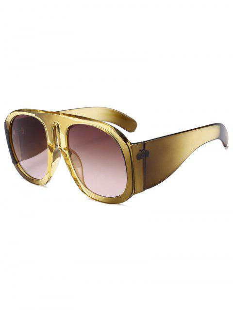 Vintage Oversized Thick Frame Sun Shades Sunglasses - YELLOW