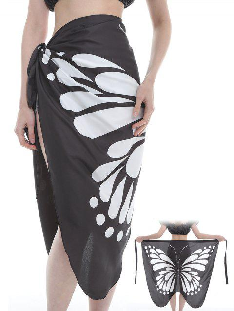 Unique Butterfly Pattern Shawl Scarf - BLACK