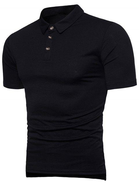 Rib Panel T-shirt - BLACK XL