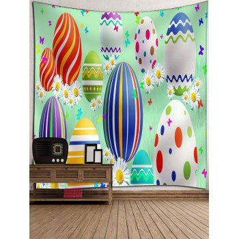 Cartoon Easter Egg Print Wall Art Tapestry - multicolor W91 INCH * L71 INCH