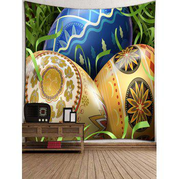 Colorized Easter Eggs Pattern Decorative Wall Tapestry - multicolor W79 INCH * L71 INCH