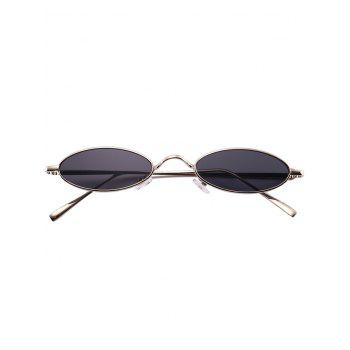 Anti Fatigue Metal Full Frame Oval Sunglasses - SILVER FRAME/GREY LENS