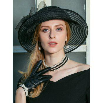 Unique Bowknot Decorated Party Church Hat - BLACK