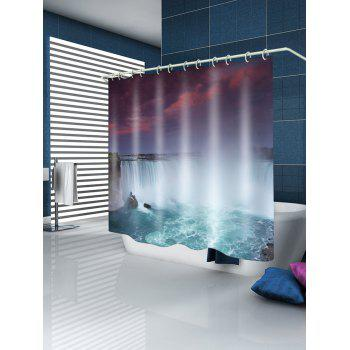 River Waterfall Pattern Waterproof Shower Curtain - multicolor W71 INCH * L71 INCH