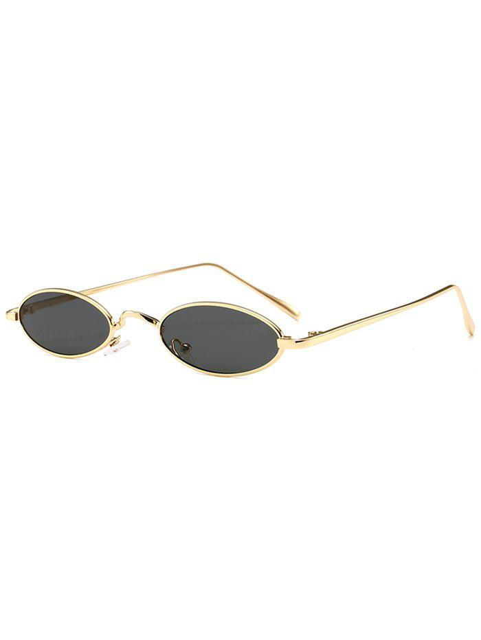 Anti Fatigue Metal Full Frame Oval Sunglasses - GOLDEN/GREY