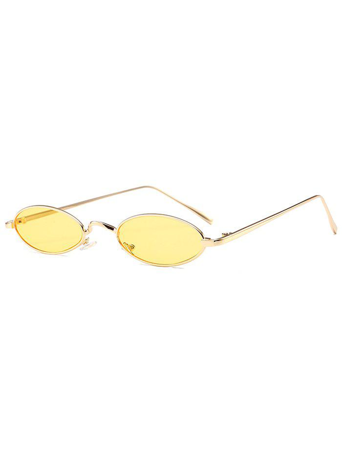 Anti Fatigue Metal Full Frame Oval Sunglasses