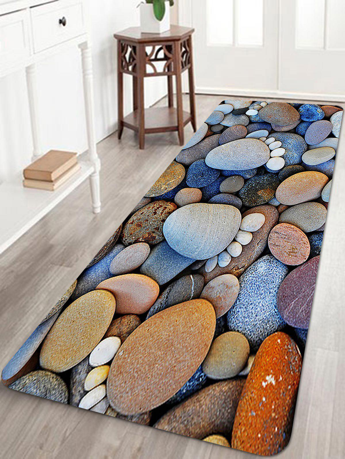 Stones Footprint Pattern Anti-skid Floor Area Rug sand shell starfish pattern floor area rug