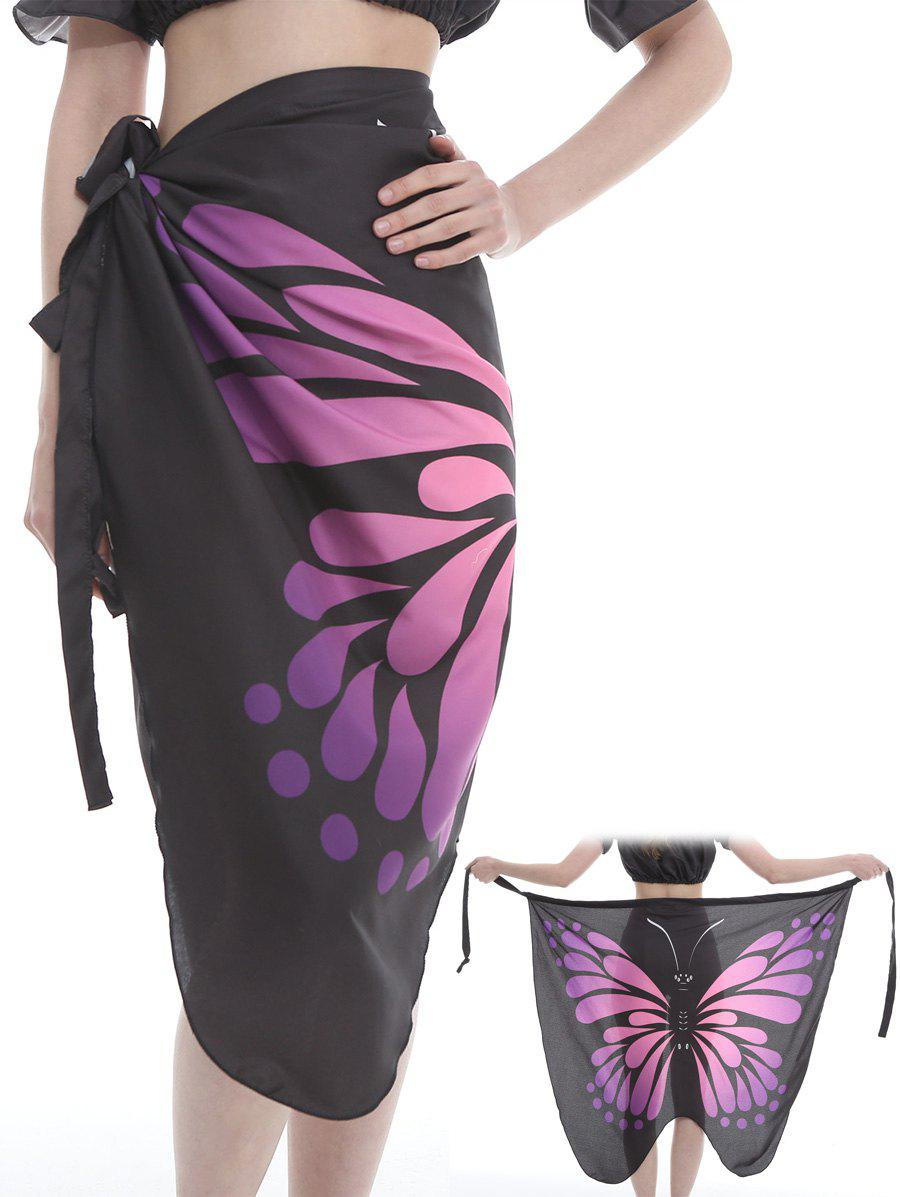 Unique Butterfly Pattern Shawl Scarf - PLUM