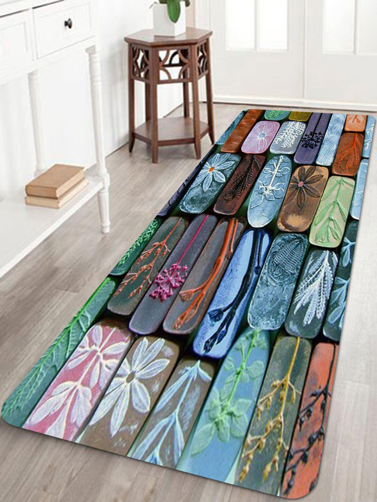 Colorful Stones Wall Print Floor Area Rug - multicolor W24 INCH * L71 INCH
