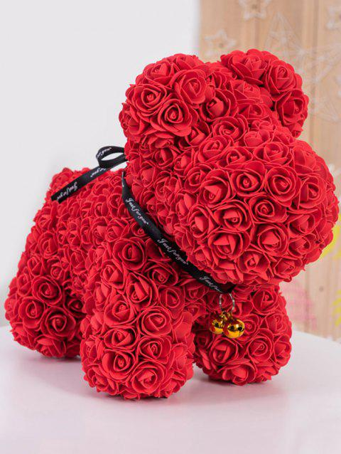 3D Flower Toy Doggy Doll Gift - RED 39*31*23CM