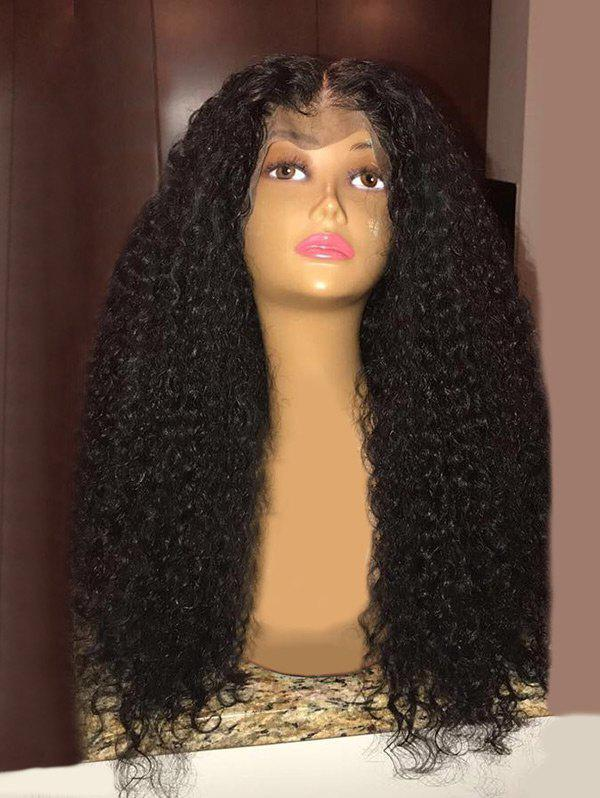 Long Middle Parting Fluffy Curly Synthetic Lace Front Wig kinky curly medium middle parting lace front human hair wig