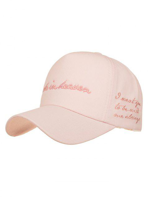 Made in Heaven Embroidery Sun Hat - LIGHT PINK