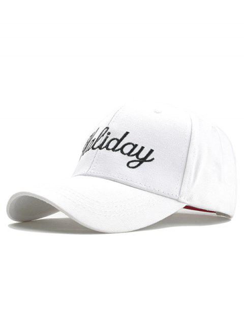Holiday Embroidery Decorated Snapback Hat - WHITE