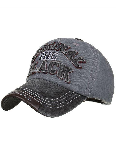 Letter Embroidery Washed Sunscreen Hat - GRAY DOLPHIN
