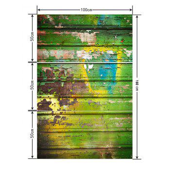 Old Wooden Board Printed Floor Decor Stickers - multicolor G 3PCS: 20*39 INCH