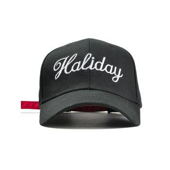 Holiday Embroidery Decorated Snapback Hat - BLACK