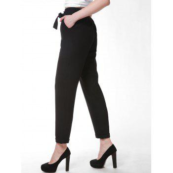 FRENCH BAZAAR Full Length Slim Fit Business Suit Pants - BLACK XL