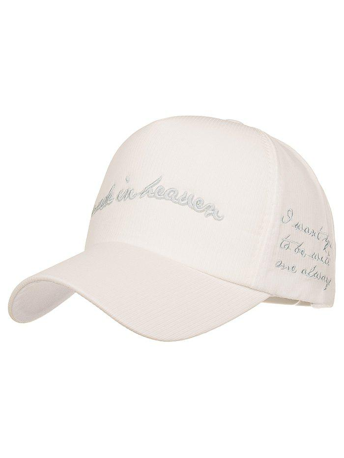 Made in Heaven Embroidery Sun Hat - WHITE