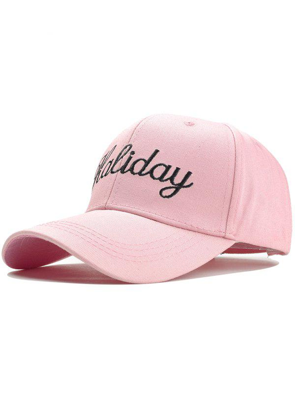 Holiday Embroidery Decorated Snapback Hat - PINK