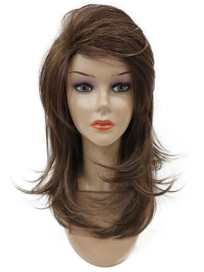 Long Inclined Bang Fluffy Layered Straight Synthetic Wig мультистайлер instyler tulip