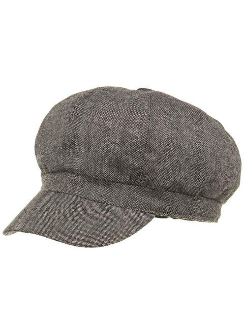 029ffa01f1e LIMITED OFFER  2019 Line Embroidery Lightweight Beret In GRAY ...