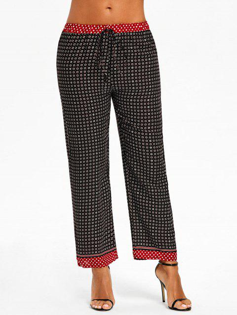 Tribal Print Beach Straight Pants - COLORMIX M