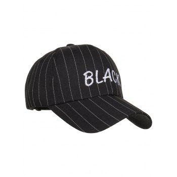 BLACK Embroidery Hip Hop Hat - BLACK