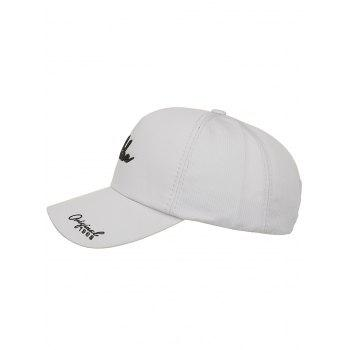 Striped Pattern Like Embroidery Snapback Hat - PLATINUM