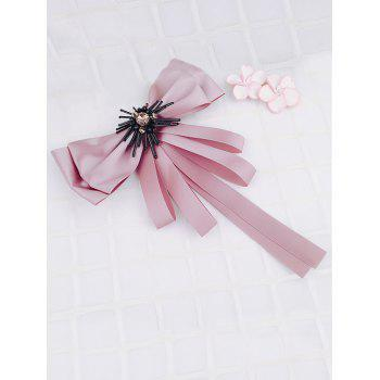 Multilayers Ribbon Bowknot Collar Brooch - LIPSTICK PINK