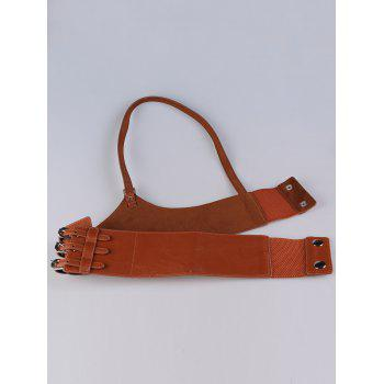 Multi Buckles Punk Harness Faux Leather Belt - RED DIRT