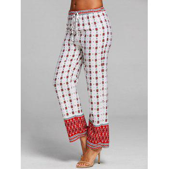 Beach Straight Pants - WHITE XL