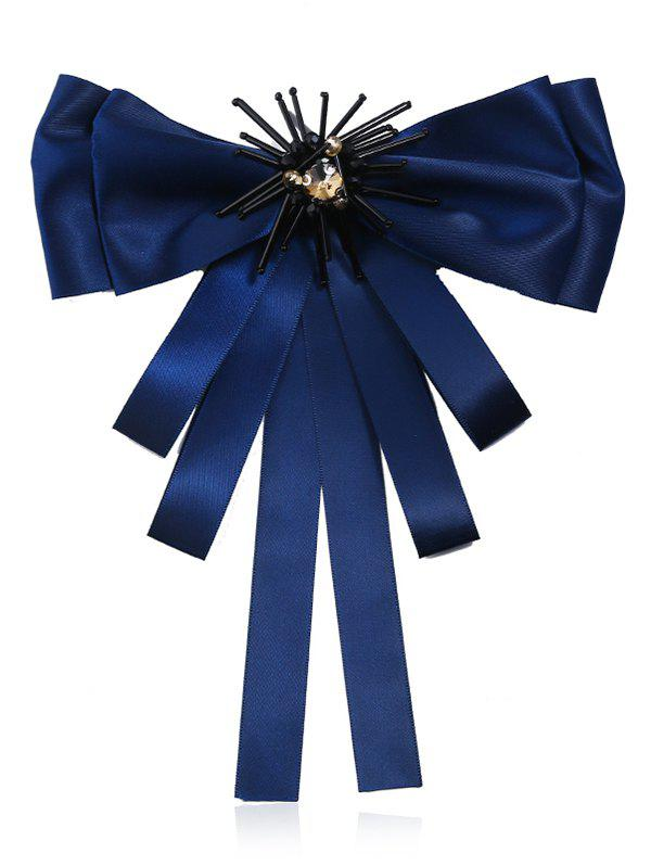 Multilayers Ribbon Bowknot Collar Brooch - LAPIS BLUE