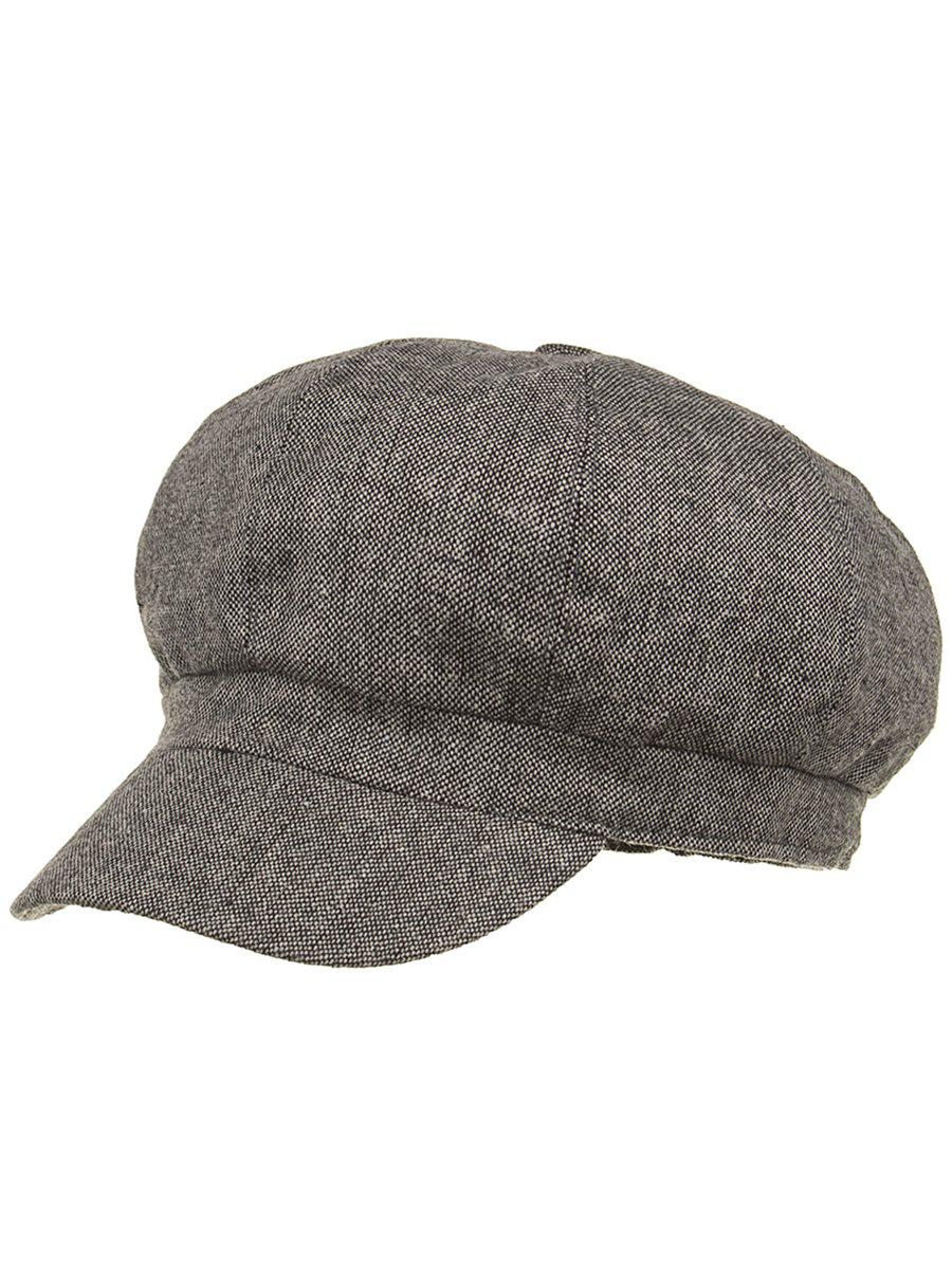 Line Embroidery Lightweight Beret - GRAY