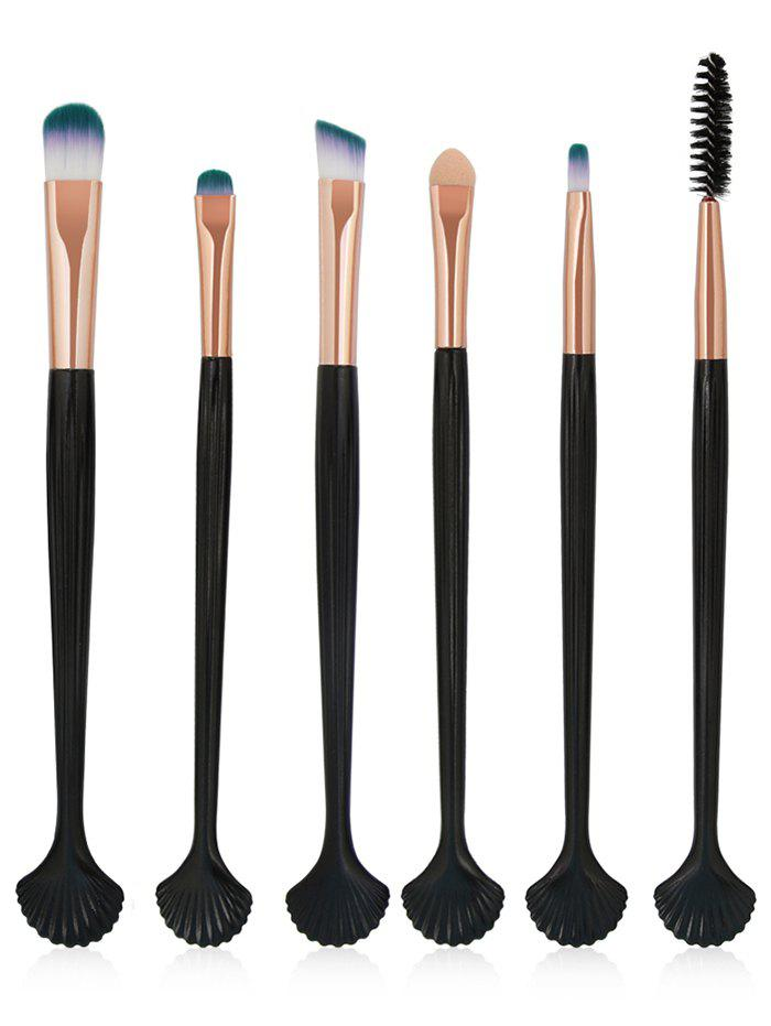 Professional Ultra Soft Shell Shaped Eye Makeup Brush Set shell shaped hair ring set