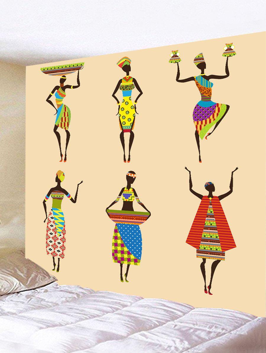 2018 African Women Print Tapestry Wall Art Decor BLANCHED ALMOND W ...