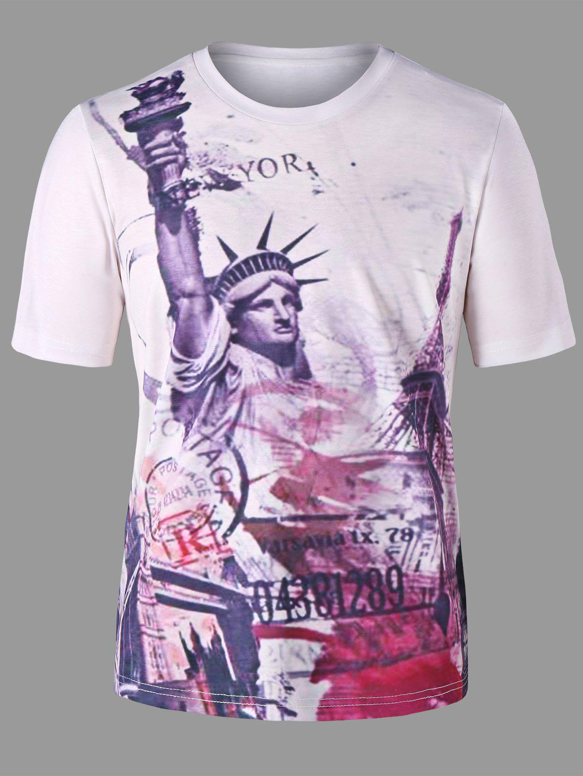 Statue of Liberty Graphic T-shirt - WHITE M