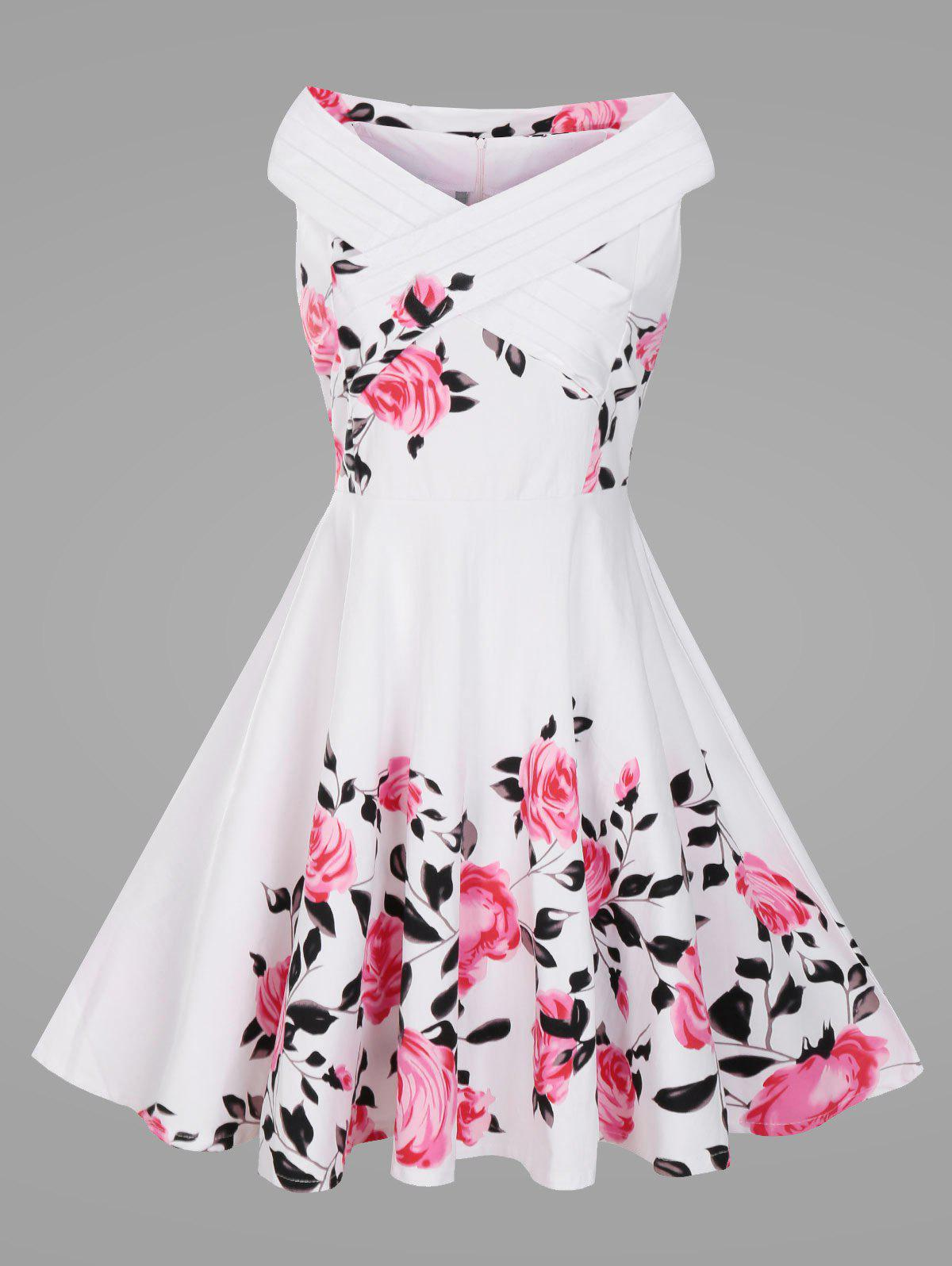Flowered Retro Dress
