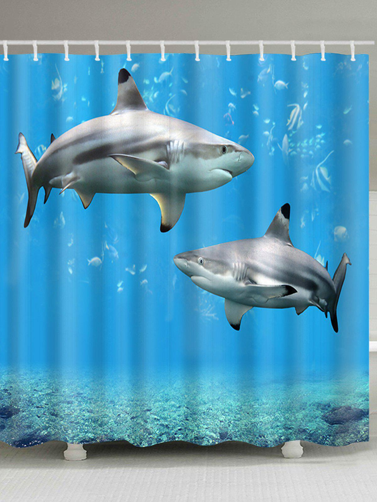Sea Two Sharks Print Shower Curtain чехол для samsung galaxy s7 объёмная печать printio бэтмен