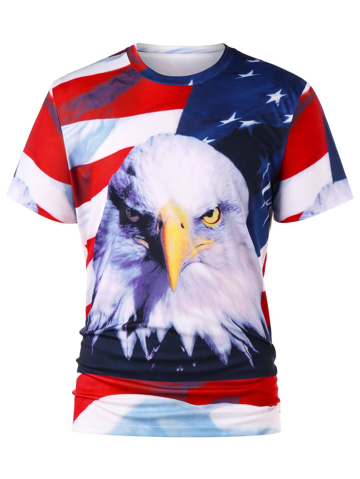 3D Print American Flag T-shirt - COLORMIX XL