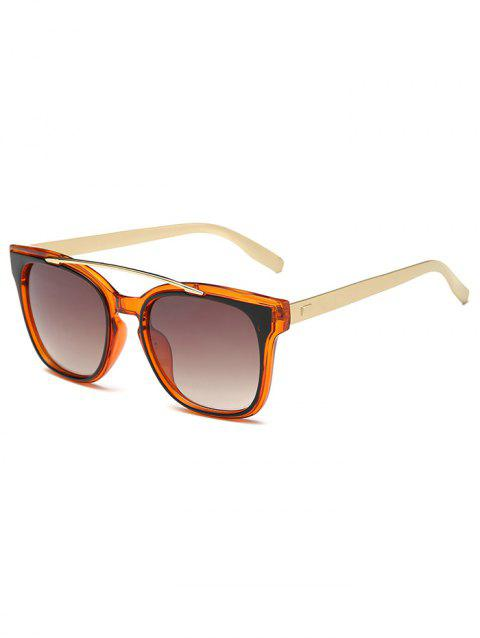 Metal Frame Crossbar Street Snap Sunglasses - PAPAYA ORANGE