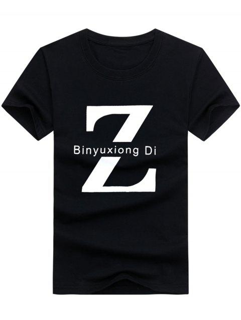 T-shirt à encolure ras du cou Z Graphic - Noir 5XL