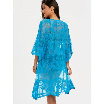 See Through Lace Kimono Cover Up - OASIS ONE SIZE