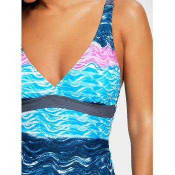 Sky Painting Low Waisted Tankini Set - COLORMIX S