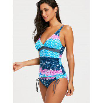 Sky Painting Low Waisted Tankini Set - COLORMIX L