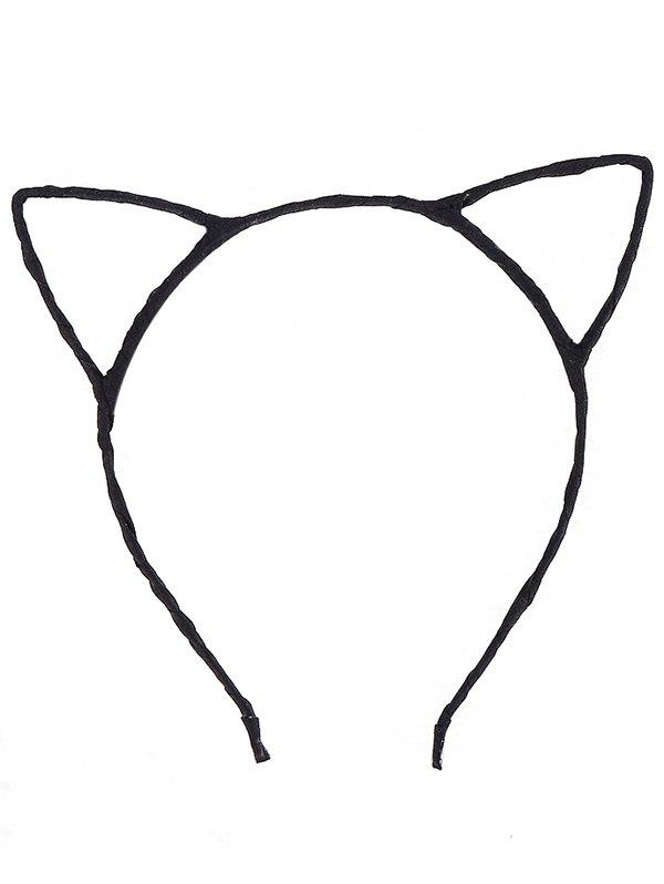 Cute Cat Ears Hairband cat ears hairband tiara hair accessories for kids cute rabbit plush big hair ball headband hoop 1pcs sweet girls