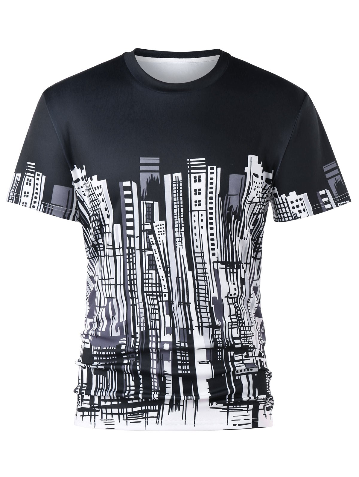 City Buildings Graphic Crew Neck T-shirt настенная плитка decocer devon cream 7 5x15