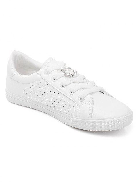 Lanbaoli Low Heel Casual Skate Shoes - WHITE 37