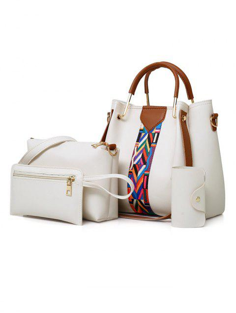 4 Pieces Daily Shopping Tote Bag Set - WHITE