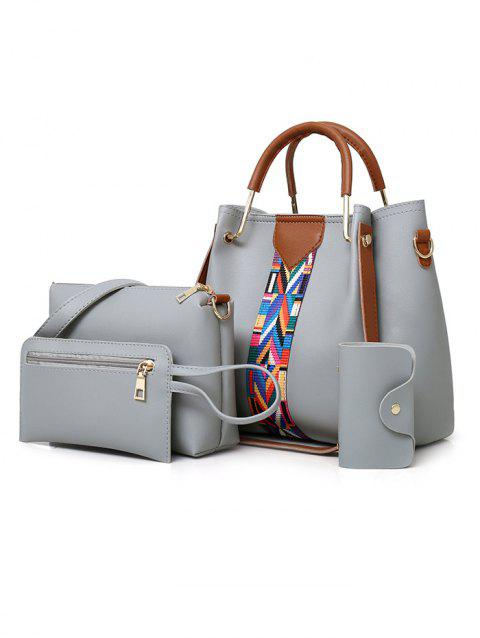 4 Pieces Daily Shopping Tote Bag Set - GRAY
