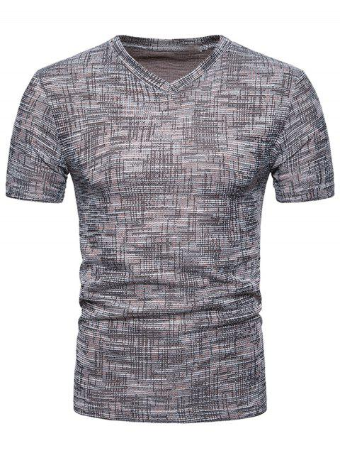 T-shirt en Tricot Respirant - Taupe M